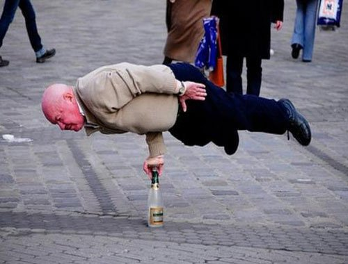 Elderly Man Planking