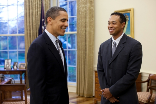 Tiger Woods and Barack Obama discussing cheating on their wives?